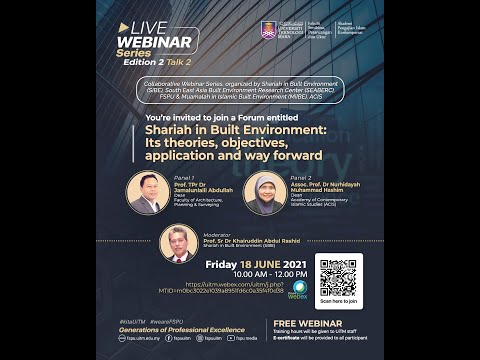 Download SIBE WEBINAR SERIES 2 (TALK 2) : Shariah in Built Environment Forum