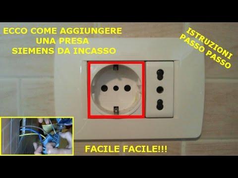 Aggiungere Una Presa Elettrica Schukosiemens Da Incasso Youtube