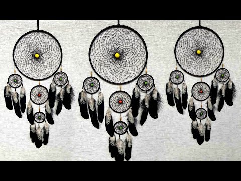 Very Simple & Easy Way to Make Dream Catcher | DIY slow video tutorial