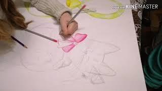 8 марта / стен-газета в школу /рисует дочка😘🎨