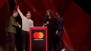 Foo Fighters win International Group | The BRIT Awards 2018