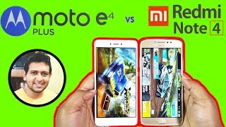 Moto E4 Plus vs Redmi Note 4 (32GB) Fingerprint & *SPEED TEST* (E4+ beats RN4 is RAM Management!)