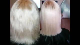 Выпрямление волос кератином. Насыщение волос кератином. Реконструкция сухих волос. Восстановление по