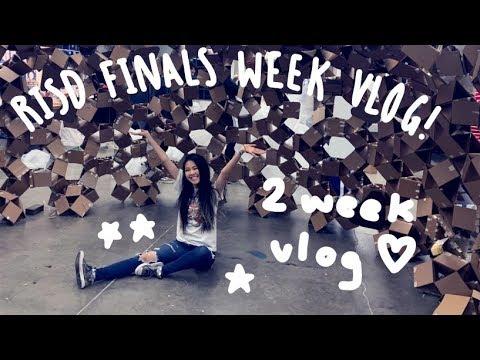 FINALS WEEK(s) AT RISD | 2 Week Vlog | Tiffany Weng