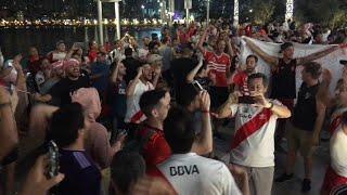 Cánticos de RIVER PLATE EN DUBAI mundial de clubes!!!