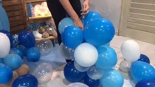 Como Fazer Arco de balões desconstruído