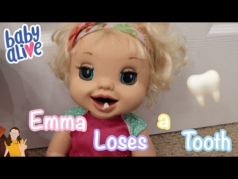 Baby Alive Emma Loses a Tooth!  | Kelli Maple