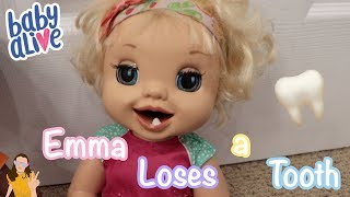 Baby Alive Emma Loses a Tooth! 🦷   Kelli Maple