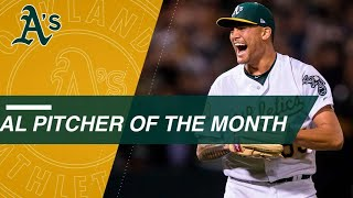 Sean Manaea is named April AL Pitcher of the Month
