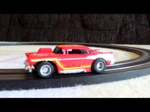 Testing Tyco slot car Chevy Hardtop, Pro Stock