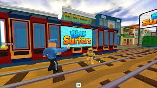 CHIPMUNK VS SUBWAY SURFERS ON ROBLOX (Blox Surfers Roblox) FUNNY ROBLOX VIDEO