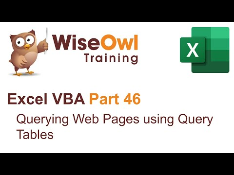 Excel VBA Introduction Part 46 - Querying Web Pages using Query Tables