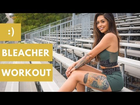 BLEACHER WORKOUT | 15 Booty Building Waist Shaping Workouts