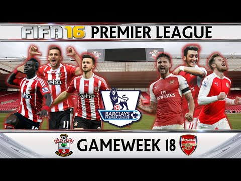 Southampton vs Arsenal - Fifa 16 Premier League Gameweek 18