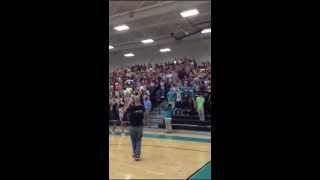 I BELIEVE chant at Glen Allen High School pep rally
