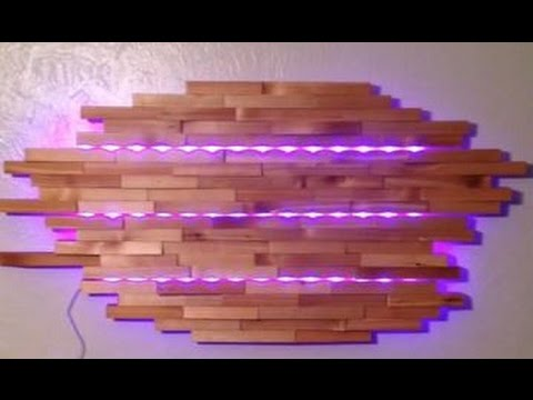 Diy Wall Lamp Led : DIY LED Wall Lamp Ideas - YouTube