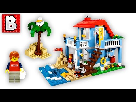 Lego Creator Seaside House Set 7346   Unbox Build Time Lapse Review