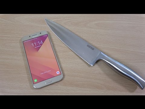 Samsung Galaxy A7 2017 -  Knife Scratch Test (4K)