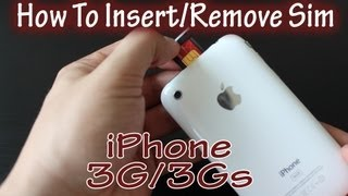 How To Remove and Insert Sim Card iPhone 3Gs and 3G - How To Use The iPhone