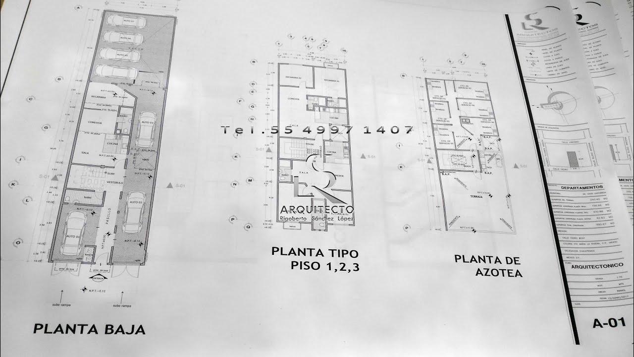 Dibujo de planos arquitect nicos youtube for Dibujos de muebles para planos arquitectonicos