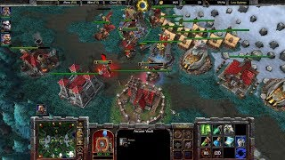 Warcraft 3 Reforged Beta Gameplay, Human with Panda 1v2, 1080p60, Max Settings