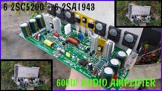 600W Dual Channel Audio Amplifier 6 SC5200 + 6SA1943
