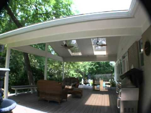 roof porch cheap a roofing video patio build ideas attached options to house how cover outdoor attach backyard