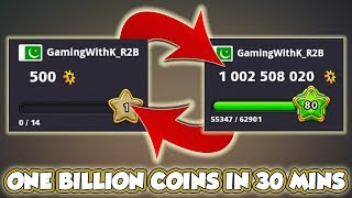 500 Coins To 1 Billion Coins - K's Road To Billion [Highlights] 8 Ball Pool - Miniclip