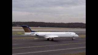 Contact Air Fokker 100 at DUS! Reverse Thrust Failure! [HD]