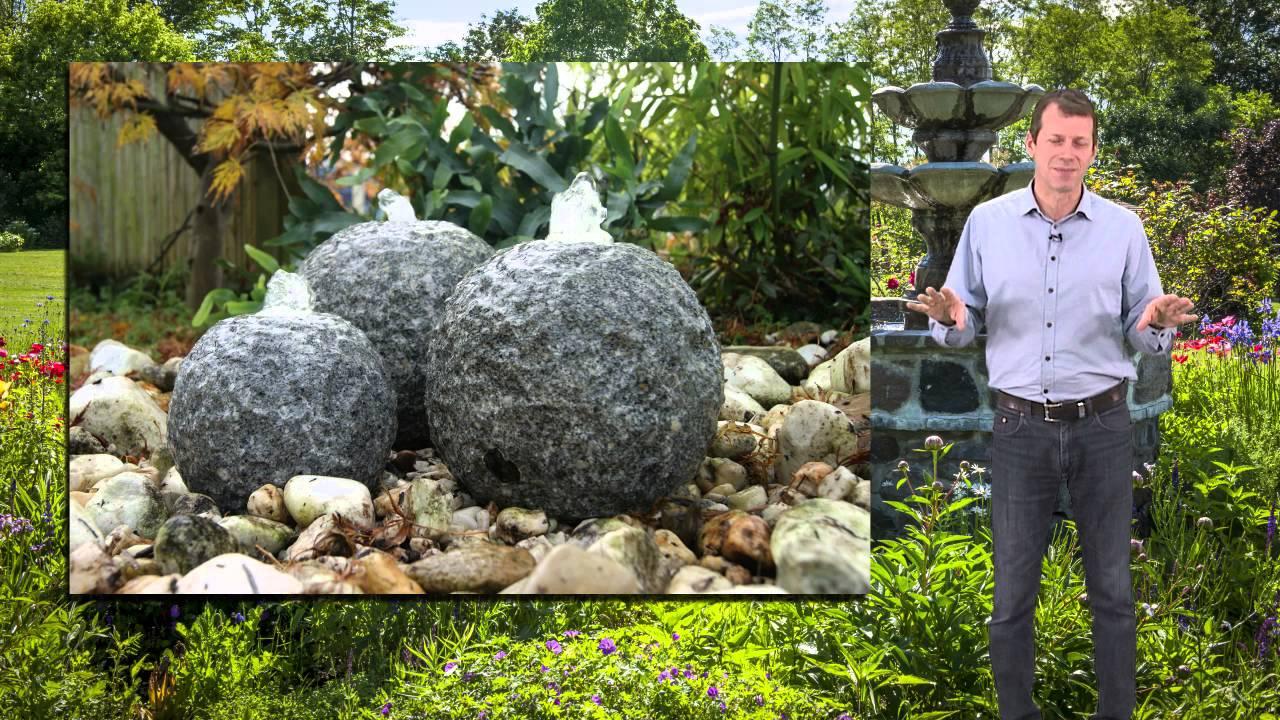 fontaine pierre naturelle exterieur et jardin youtube