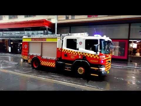 NSW Fire and Rescue Responding on Market St!