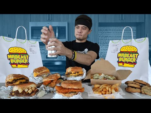 MrBEAST BURGER Full Menu Challenge **DESTROYED**