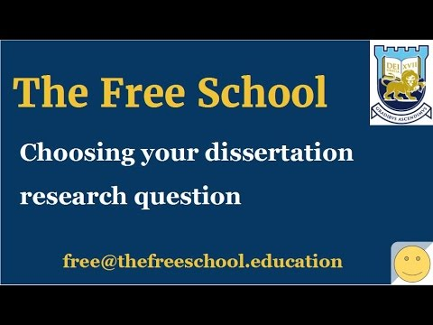 PhD thesis - choosing your research question