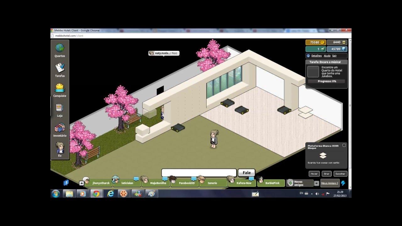 Constru o relampago casa moderna vers o habbo mebbo for Casa moderna habbo