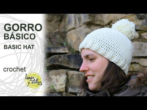 Tutorial Gorro Básico Crochet o Ganchillo - YouTube