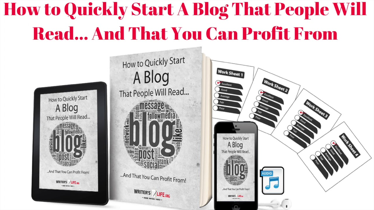 How to Quickly Start A Blog That People Will Read… And That You Can Profit From