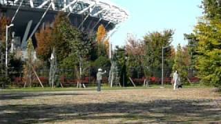 武蔵野の森公園の、味の素スタジアムと調布市西町サッカー場の間にある...