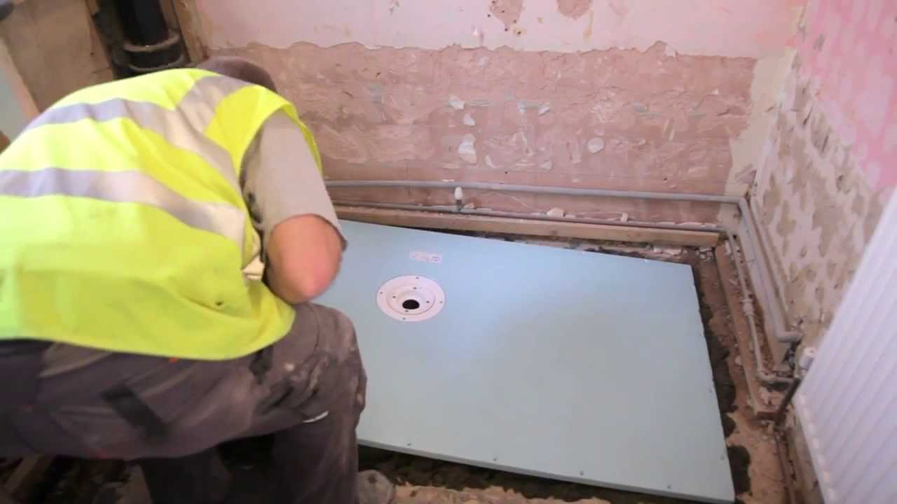 Akw Wet Rooms Using The Tuff Form Wet Room Former Youtube