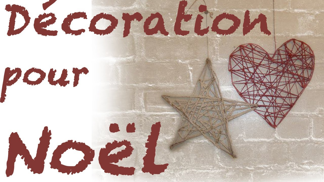 R aliser des objets de d coration de no l hyper simple - Decorations de noel a faire ...
