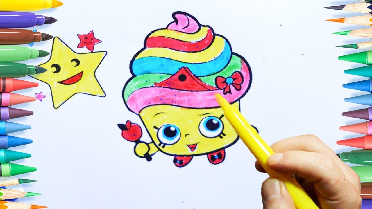 Kek Ve Pasta Boyama Sayfasi Renkleri öğreniyorum Youtube