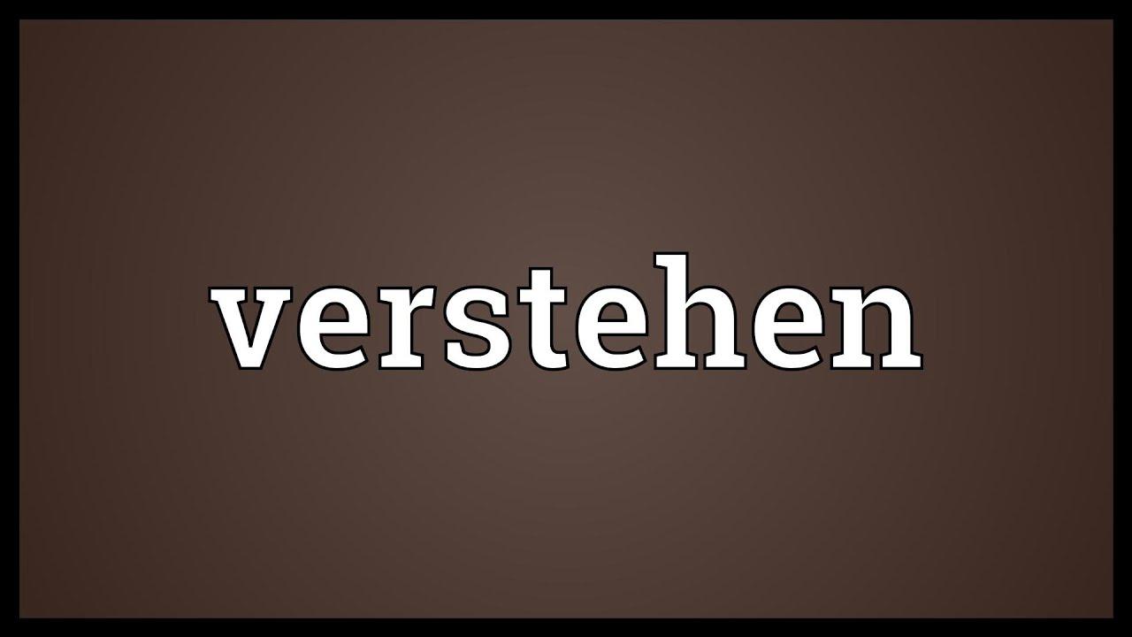 what does verstehen mean