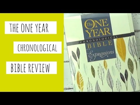 One Year Chronological Bible Journal Review for Bible Journaling - NLT Expressions Bible Mp3