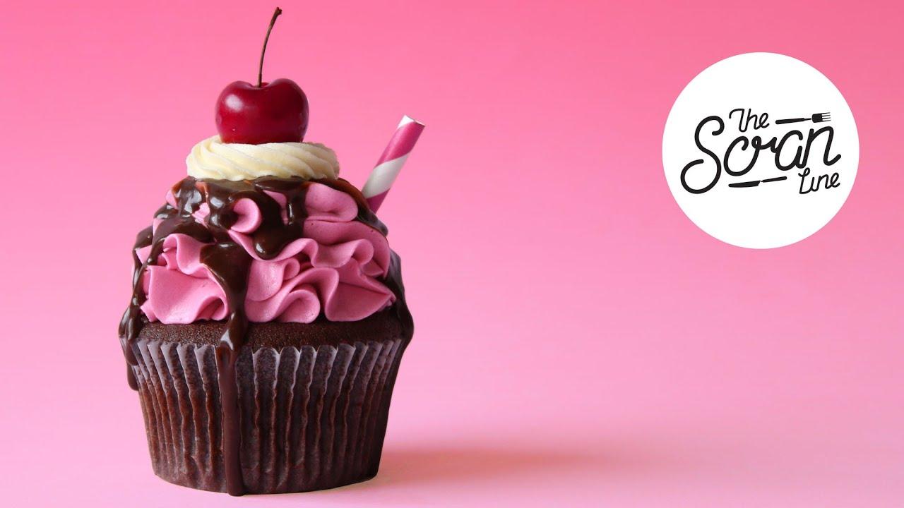 Choc Cherry Cola Cupcakes The Scran Line Youtube
