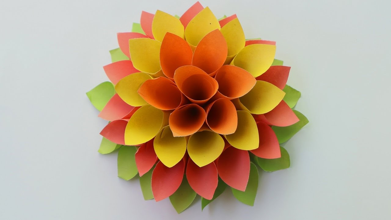 How to make paper origami flowers | Paper flowers for beginners ...