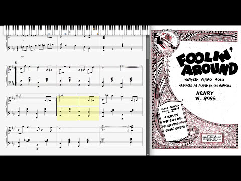 Foolin' Around by Henry Ross (1922, Novelty piano)