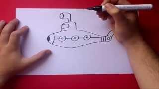 Como dibujar un submarino paso a paso | How to draw a submarine