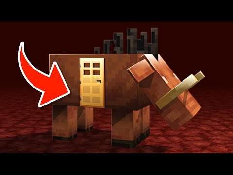 How to LIVE Inside a HOGLIN in Minecraft 1.16!