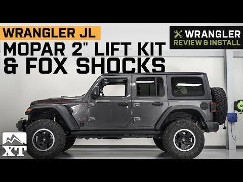 """jeep-wrangler-jl-mopar-2""""-lift-kit-&-fox-shocks-(2018-4-door)-review-&-install"""