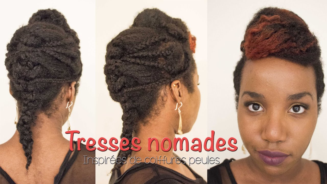 [Coiffure] Tresses Nomades , Coiffure protectrice sur cheveux afro , YouTube