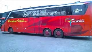 bus harapan indah mercedes benz oc 500 rf 2542 chek up on pt citrakarya pranata bandung